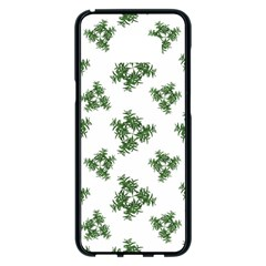 Nature Motif Pattern Design Samsung Galaxy S8 Plus Black Seamless Case