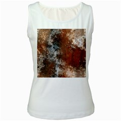 Marbled Structure 4c Women s White Tank Top
