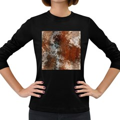 Marbled Structure 4c Women s Long Sleeve Dark T Shirts