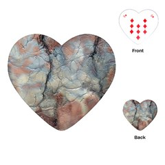 Marbled Structure 5a2 Playing Cards (heart)