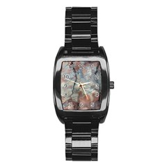 Marbled Structure 5a2 Stainless Steel Barrel Watch