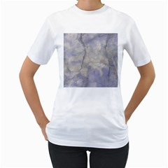 Marbled Structure 5b Women s T Shirt (white) (two Sided)