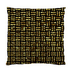 Woven1 Black Marble & Gold Foil Standard Cushion Case (one Side)