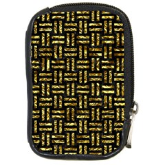 Woven1 Black Marble & Gold Foil Compact Camera Cases