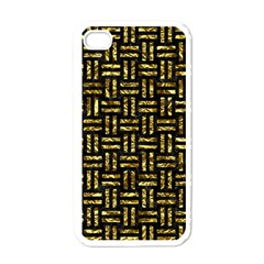 Woven1 Black Marble & Gold Foil Apple Iphone 4 Case (white)