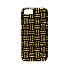 Woven1 Black Marble & Gold Foil Apple Iphone 5 Classic Hardshell Case (pc+silicone)