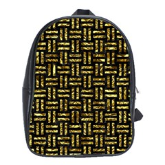 Woven1 Black Marble & Gold Foil School Bag (xl)