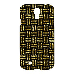Woven1 Black Marble & Gold Foil Samsung Galaxy S4 I9500/i9505 Hardshell Case