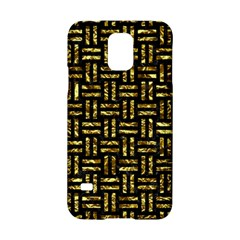 Woven1 Black Marble & Gold Foil Samsung Galaxy S5 Hardshell Case