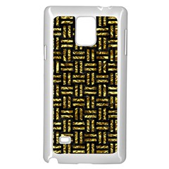 Woven1 Black Marble & Gold Foil Samsung Galaxy Note 4 Case (white)