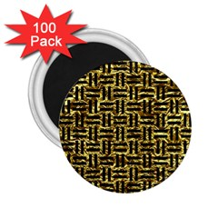 Woven1 Black Marble & Gold Foil (r) 2 25  Magnets (100 Pack)