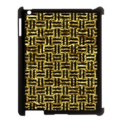 Woven1 Black Marble & Gold Foil (r) Apple Ipad 3/4 Case (black)