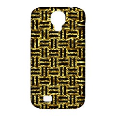 Woven1 Black Marble & Gold Foil (r) Samsung Galaxy S4 Classic Hardshell Case (pc+silicone)