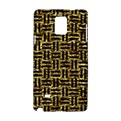 Woven1 Black Marble & Gold Foil (r) Samsung Galaxy Note 4 Hardshell Case