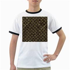 Woven2 Black Marble & Gold Foil Ringer T Shirts