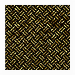 Woven2 Black Marble & Gold Foil Medium Glasses Cloth