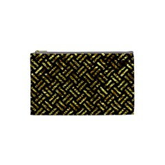 Woven2 Black Marble & Gold Foil Cosmetic Bag (small)