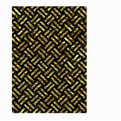 Woven2 Black Marble & Gold Foil Large Garden Flag (two Sides)