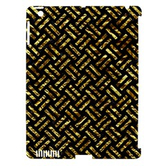 Woven2 Black Marble & Gold Foil Apple Ipad 3/4 Hardshell Case (compatible With Smart Cover)