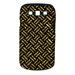 Woven2 Black Marble & Gold Foil Samsung Galaxy S Iii Classic Hardshell Case (pc+silicone)