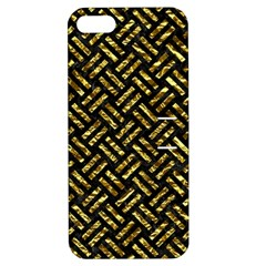 Woven2 Black Marble & Gold Foil Apple Iphone 5 Hardshell Case With Stand