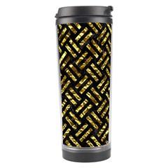 Woven2 Black Marble & Gold Foil Travel Tumbler