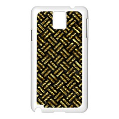Woven2 Black Marble & Gold Foil Samsung Galaxy Note 3 N9005 Case (white)