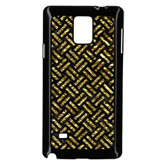 Woven2 Black Marble & Gold Foil Samsung Galaxy Note 4 Case (black)