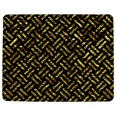 Woven2 Black Marble & Gold Foil Jigsaw Puzzle Photo Stand (rectangular)