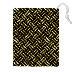 Woven2 Black Marble & Gold Foil Drawstring Pouches (xxl)
