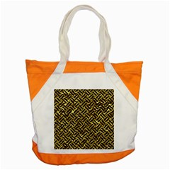 Woven2 Black Marble & Gold Foil (r) Accent Tote Bag