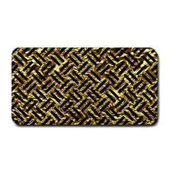 Woven2 Black Marble & Gold Foil (r) Medium Bar Mats