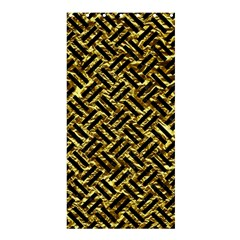 Woven2 Black Marble & Gold Foil (r) Shower Curtain 36  X 72  (stall)