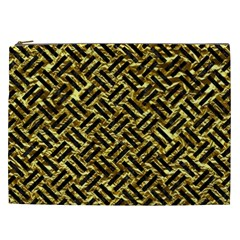 Woven2 Black Marble & Gold Foil (r) Cosmetic Bag (xxl)