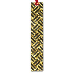 Woven2 Black Marble & Gold Foil (r) Large Book Marks