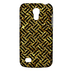 Woven2 Black Marble & Gold Foil (r) Galaxy S4 Mini