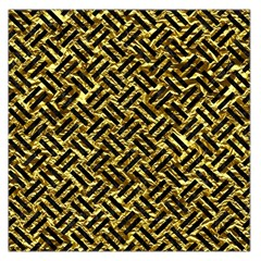 Woven2 Black Marble & Gold Foil (r) Large Satin Scarf (square)