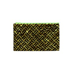 Woven2 Black Marble & Gold Foil (r) Cosmetic Bag (xs)