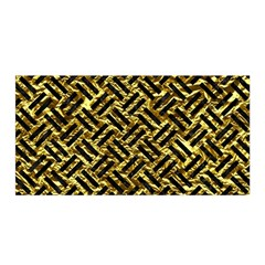 Woven2 Black Marble & Gold Foil (r) Satin Wrap