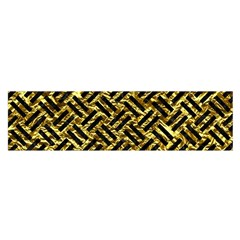 Woven2 Black Marble & Gold Foil (r) Satin Scarf (oblong)