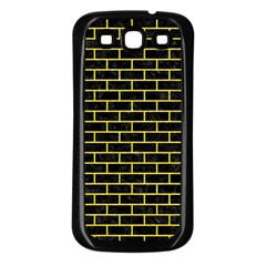 Brick1 Black Marble & Gold Glitter Samsung Galaxy S3 Back Case (black)