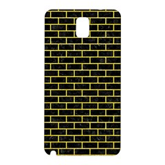 Brick1 Black Marble & Gold Glitter Samsung Galaxy Note 3 N9005 Hardshell Back Case