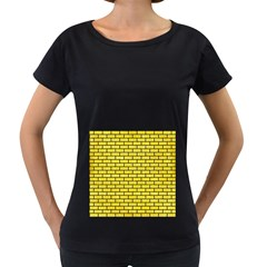 Brick1 Black Marble & Gold Glitter (r) Women s Loose Fit T Shirt (black)