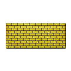 Brick1 Black Marble & Gold Glitter (r) Cosmetic Storage Cases