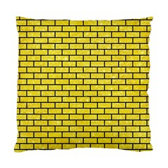 Brick1 Black Marble & Gold Glitter (r) Standard Cushion Case (two Sides)