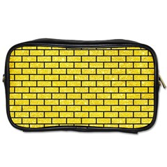 Brick1 Black Marble & Gold Glitter (r) Toiletries Bags