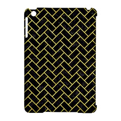 Brick2 Black Marble & Gold Glitter Apple Ipad Mini Hardshell Case (compatible With Smart Cover)