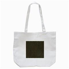 Brick2 Black Marble & Gold Glitter Tote Bag (white)