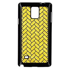 Brick2 Black Marble & Gold Glitter (r) Samsung Galaxy Note 4 Case (black)
