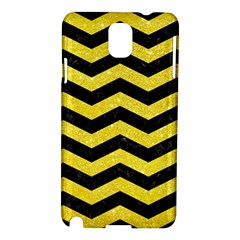 Chevron3 Black Marble & Gold Glitter Samsung Galaxy Note 3 N9005 Hardshell Case